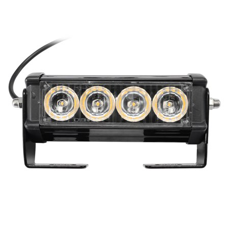 2PCS 7-Flashing Mode 12V 4 LED Strobe Flash Grille Light Warning Hazard Emergency Lamp Car Truck Waterproof - image 6 of 7