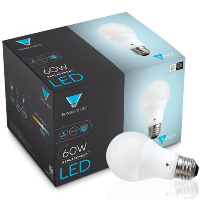 19 LED 60 Watt Equivalent Daylight 5000K Light Bulb - Pack of 6 - image 1 de 1