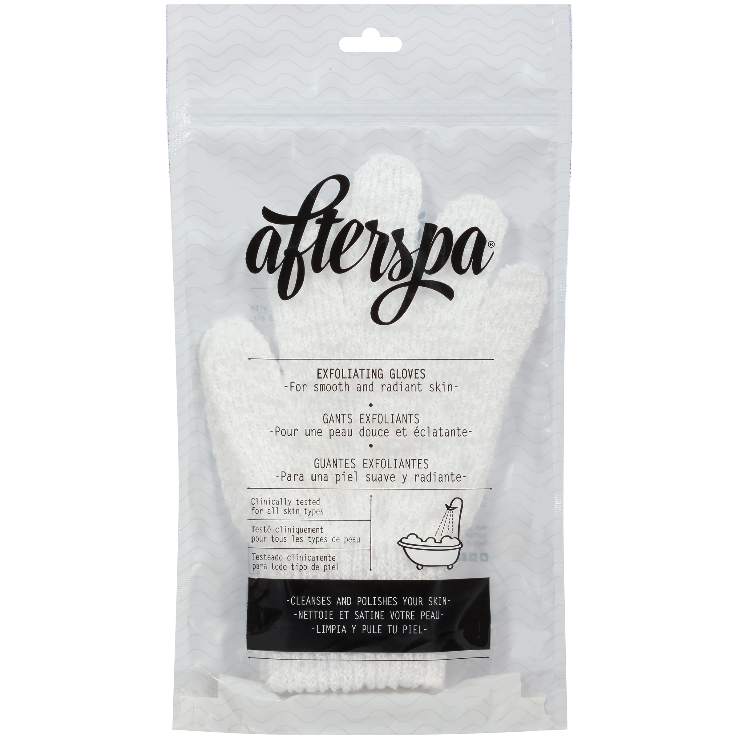 Afterspa Exfoliating Bath Gloves, 2 count