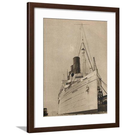 Cunard White Star Line ('Former Queen of the Ocean, R,M.S. Mauretania of the Cunard White Star Line', 1936 Framed Print Wall Art)