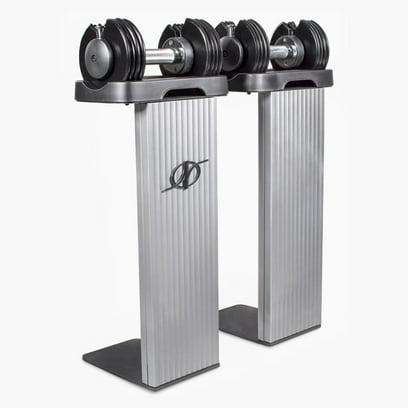 NordicTrack SpeedWeight Adjustable Dumbbells with Weight Racks, 12.5 lbs Pair