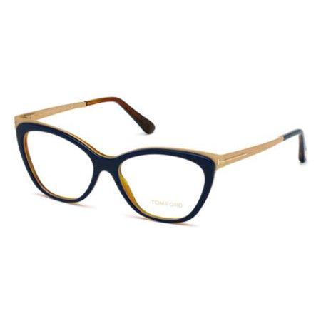4b9c2ca863e TOM FORD Eyeglasses FT5374 090 Shiny Blue 54MM - Walmart.com