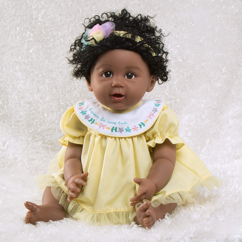 Paradise Galleries African American Black Reborn Baby Doll Rainbow Blessings: Faith, 5-Piece Gift Set, 19 inch... by