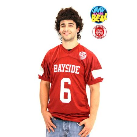 Saved By The Bell Slater Jersey & Mullet Costume Wig Set Adult XX-Large - Ac Slater Wig