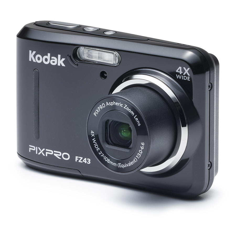 KODAK PIXPRO FZ43 Compact Digital Camera - 16MP 4X Optical Zoom HD 720p Video (Black)