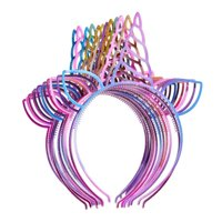 Fancyleo Pack of 12 Unicorn Headbands Plastic Unicorn Hairbands for Girls Teens Toddlers Party Favors