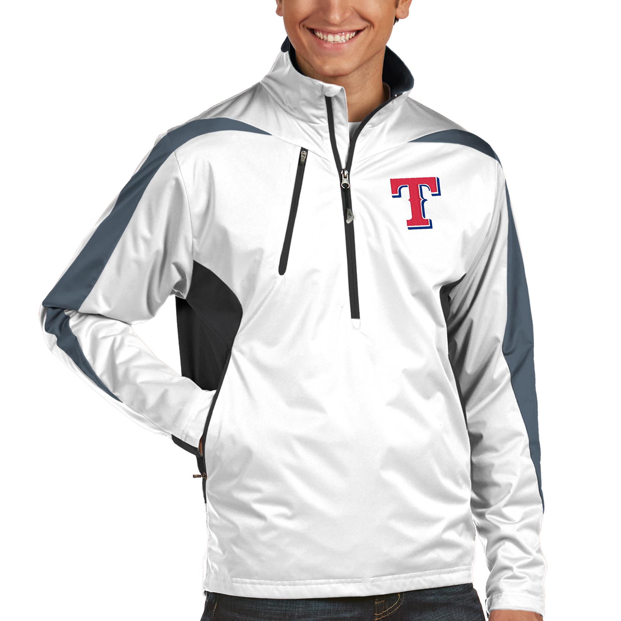 Texas Rangers Discover Half-Zip Jacket - White