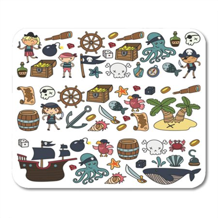 SIDONKU Children Playing Pirates Boys and Girls Kindergarten School Preschool Halloween Mousepad Mouse Pad Mouse Mat 9x10 inch - Halloween Preschool