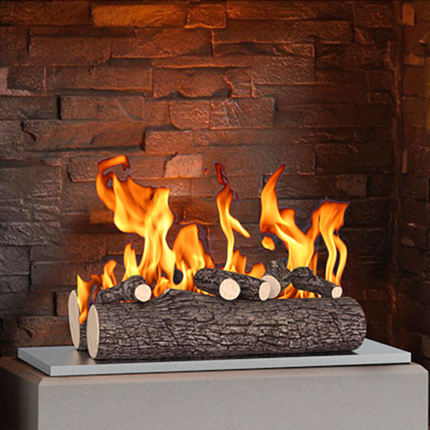 Regal Flame 20 Piece 20 inch Ceramic Wood Gas Fireplace Logs Logs for All  Types of Indoor, Gas Inserts, Ventless & Vent Free, Propane, Gel, Ethanol,  ...