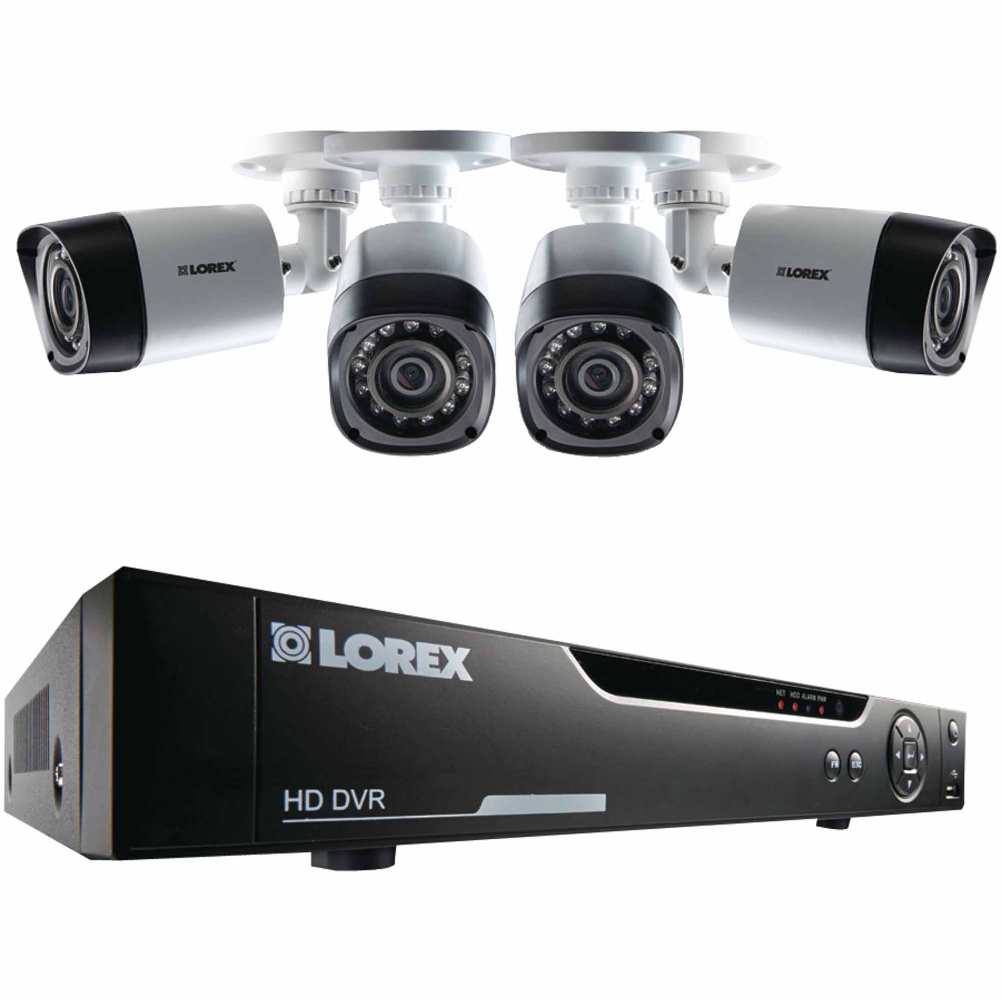 Lorex LHV10041TC4 4-Channel 1TB Cloud Connect 720p HD CCTV and Four 720p Cameras