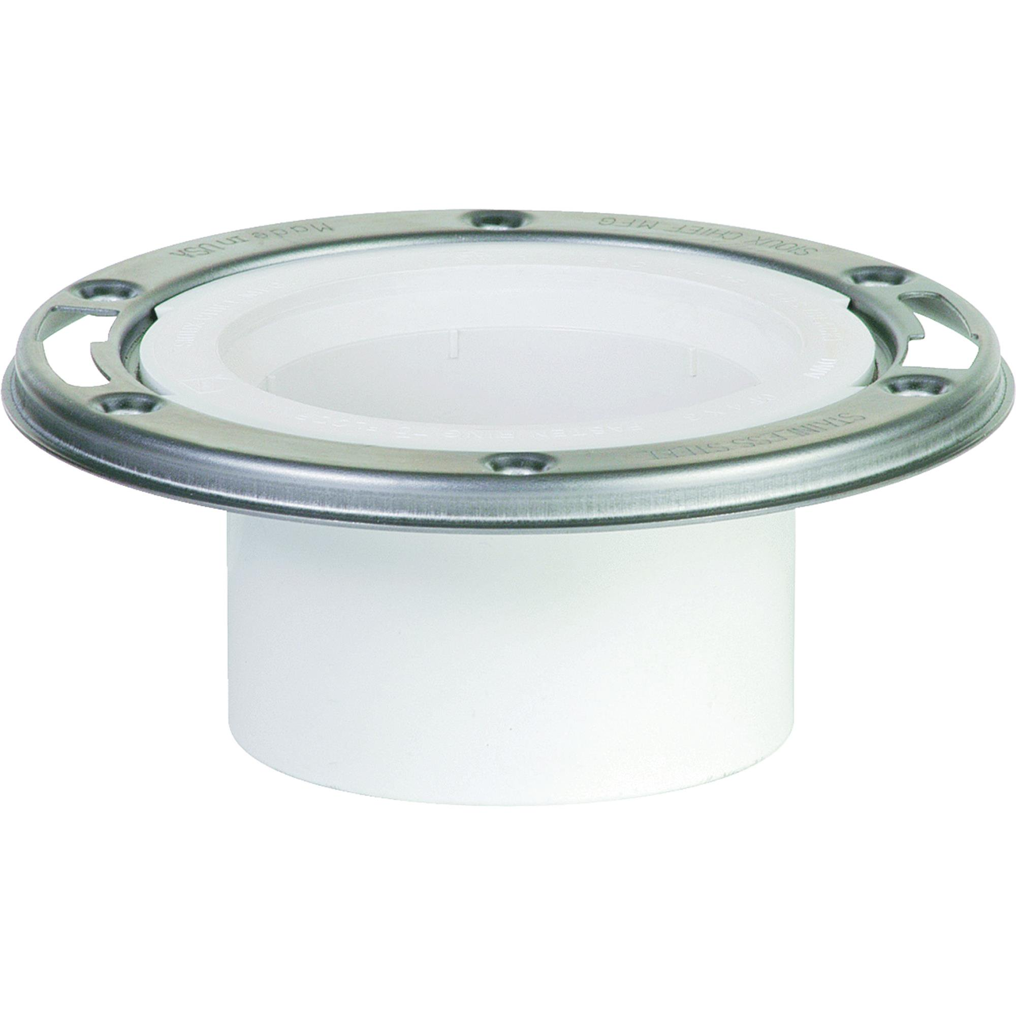 Sioux Chief PVC Open Closet Flange With Stainless Steel Ring by Sioux Chief