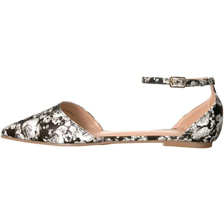 Journee Collection Womens Reba Closed Toe Ankle Strap Slide Flats