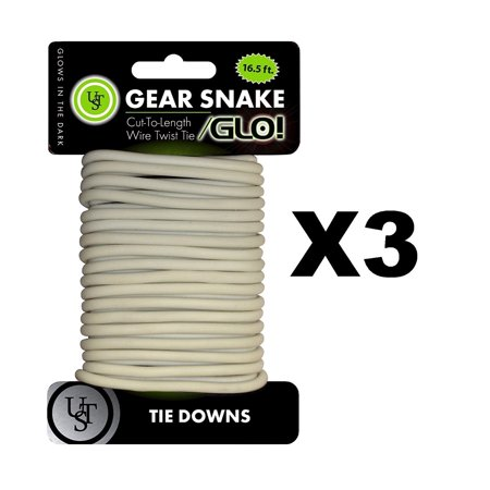 Bendable Wire Twisty Tie 3 Pack Cut To Length Twist Material By Ultimate Survival Technologies