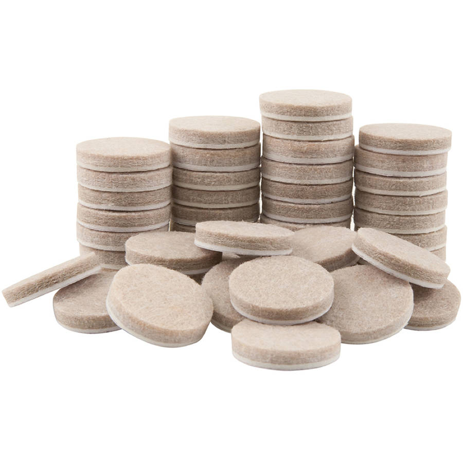 "Waxman Consumer Group 4719095N 1"" Oatmeal Round Self-Stick Felt Pads, 48 Count"
