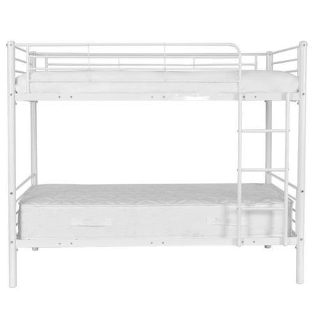 Costway Metal Twin Over Twin Bunk Beds Ladder Kids Teens Dorm Bedroom White - image 7 de 8