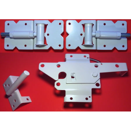 Vinyl Fence Gate Single Gate Hardware Kit White For Vinyl