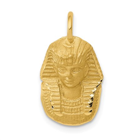 14k Yellow Gold King Tut Pendant Charm Necklace Travel Transportation Fine Jewelry For Women Gifts For Her - image 1 de 6