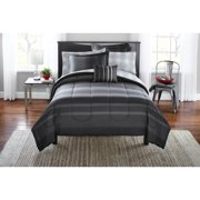Mainstays Gray Plaid Bed in a Bag Bedding Set