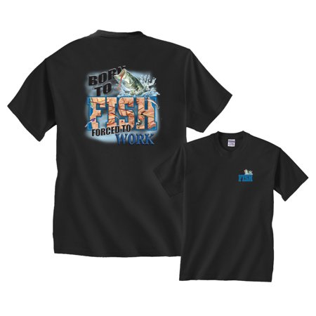 Born To Fish Forced To Work Fishing T-Shirt