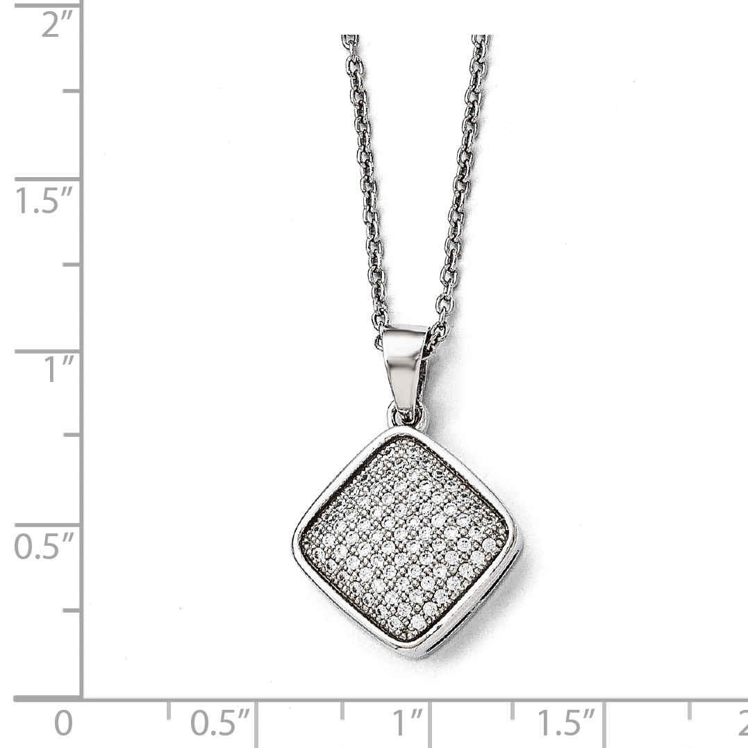 925 Sterling Silver Cubic Zirconia Cz Chain Necklace Pendant Charm Fine Jewelry Gifts For Women For Her - image 3 de 4