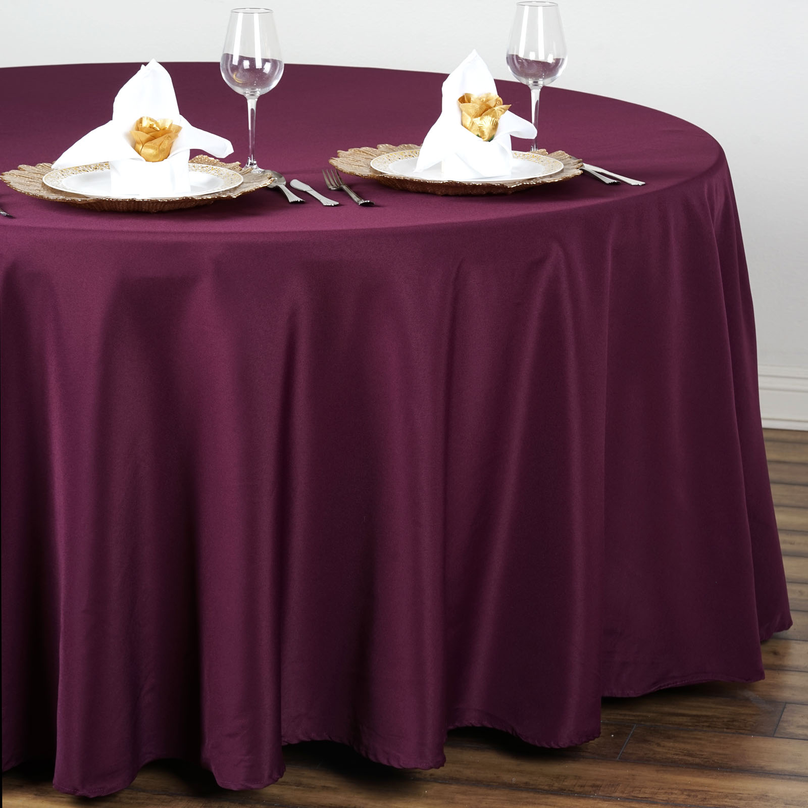 """BalsaCircle 108"""" Round Polyester Tablecloth for Party Wedding Reception Catering... by BalsaCircle"""