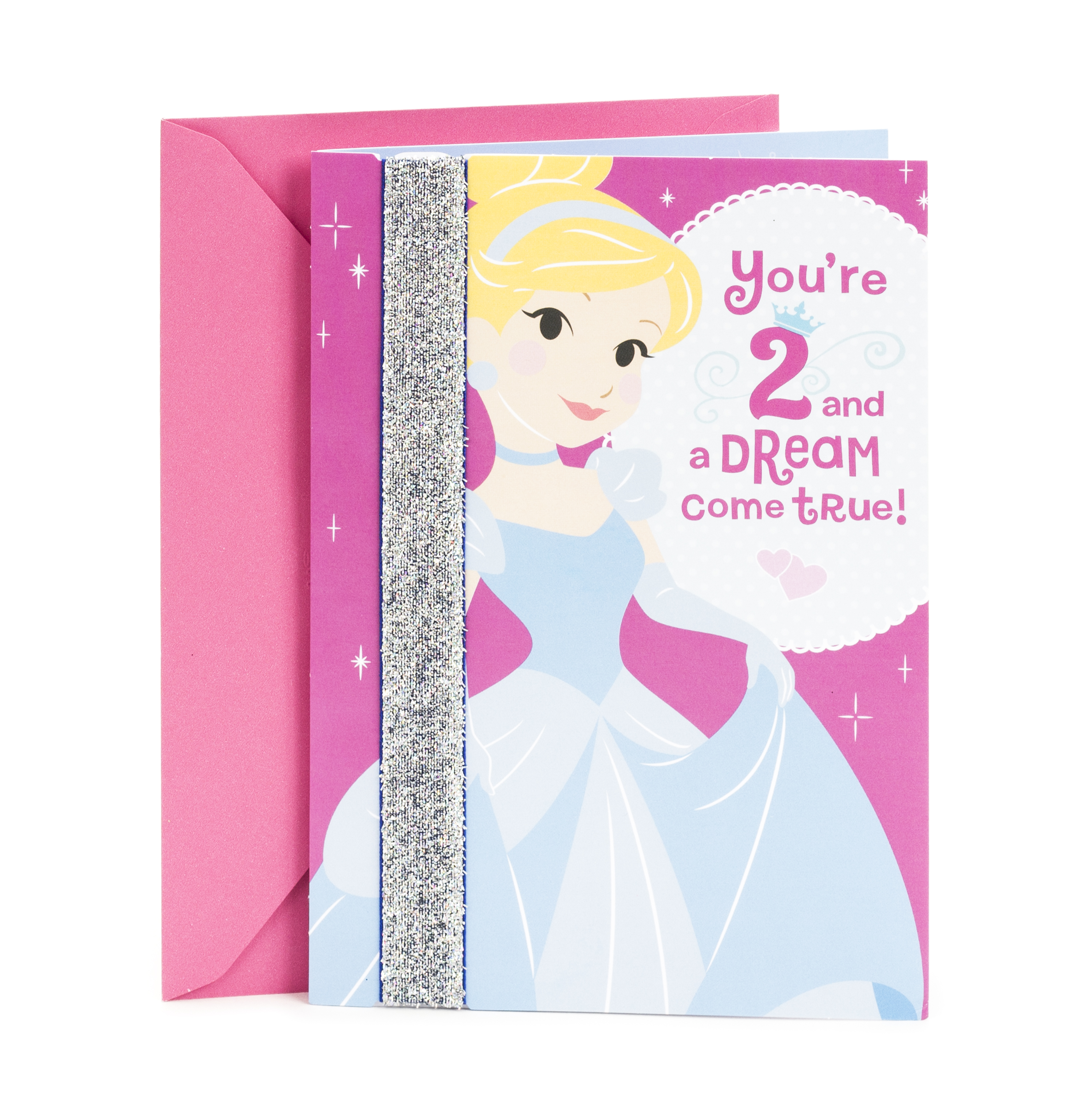 Hallmark 2nd Birthday Greeting Card (Cinderella Wearable Headband)