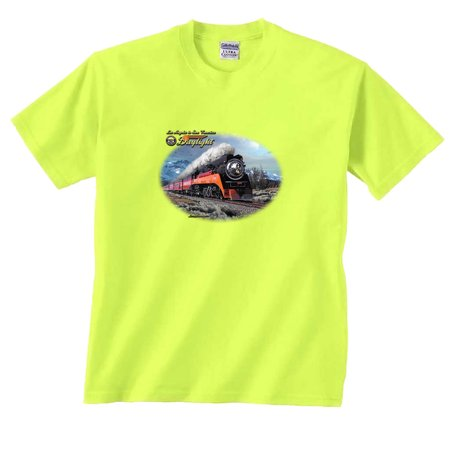 Trains T-Shirt Daylight in Winter Train Los Angeles to San Francisco locomotive trains railroad ()