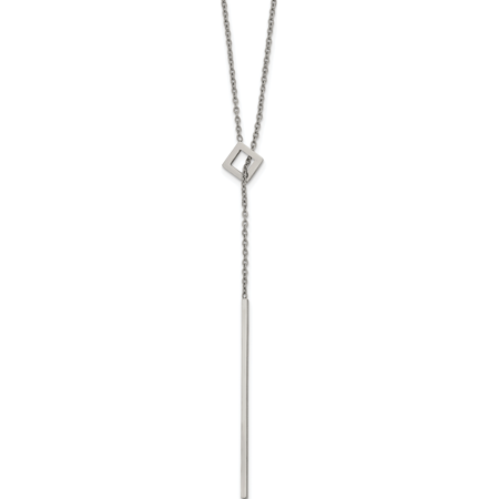 Stainless Steel Polished Adjustable 16.5in w/2in ext. Y Necklace - image 1 de 1