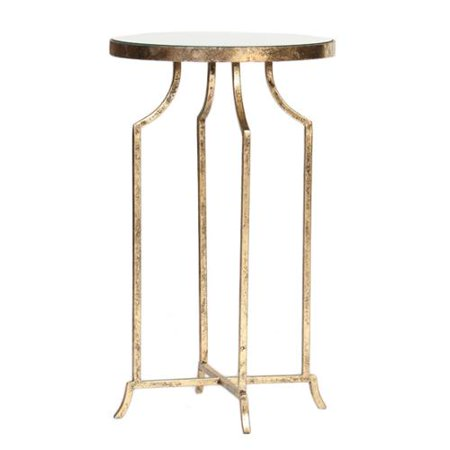 Prima Design Source Old World Round Mirrored End Table