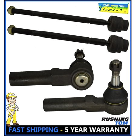 4 Inner and Outer Tie Rod Ends for GM Buick Pontiac - Chevy Impala ES3459 (Pontiac Hot Rods)