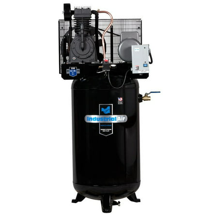 Industrial Air IV5018055 5 HP 230V 80 Gallon Baldor Industrial Vertical Stationary Air