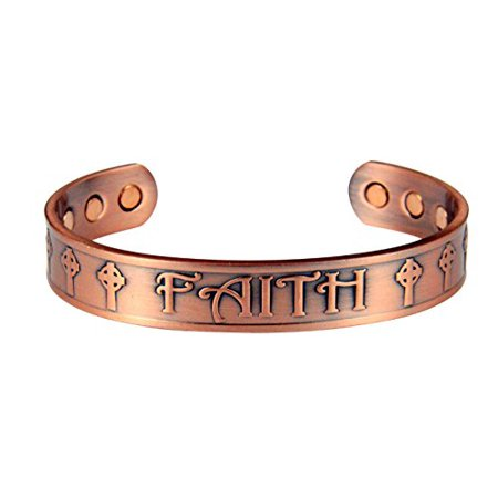 magnetic bracelet walmart 4031667 solid copper magnetic cuff bracelet bangle faith 1787