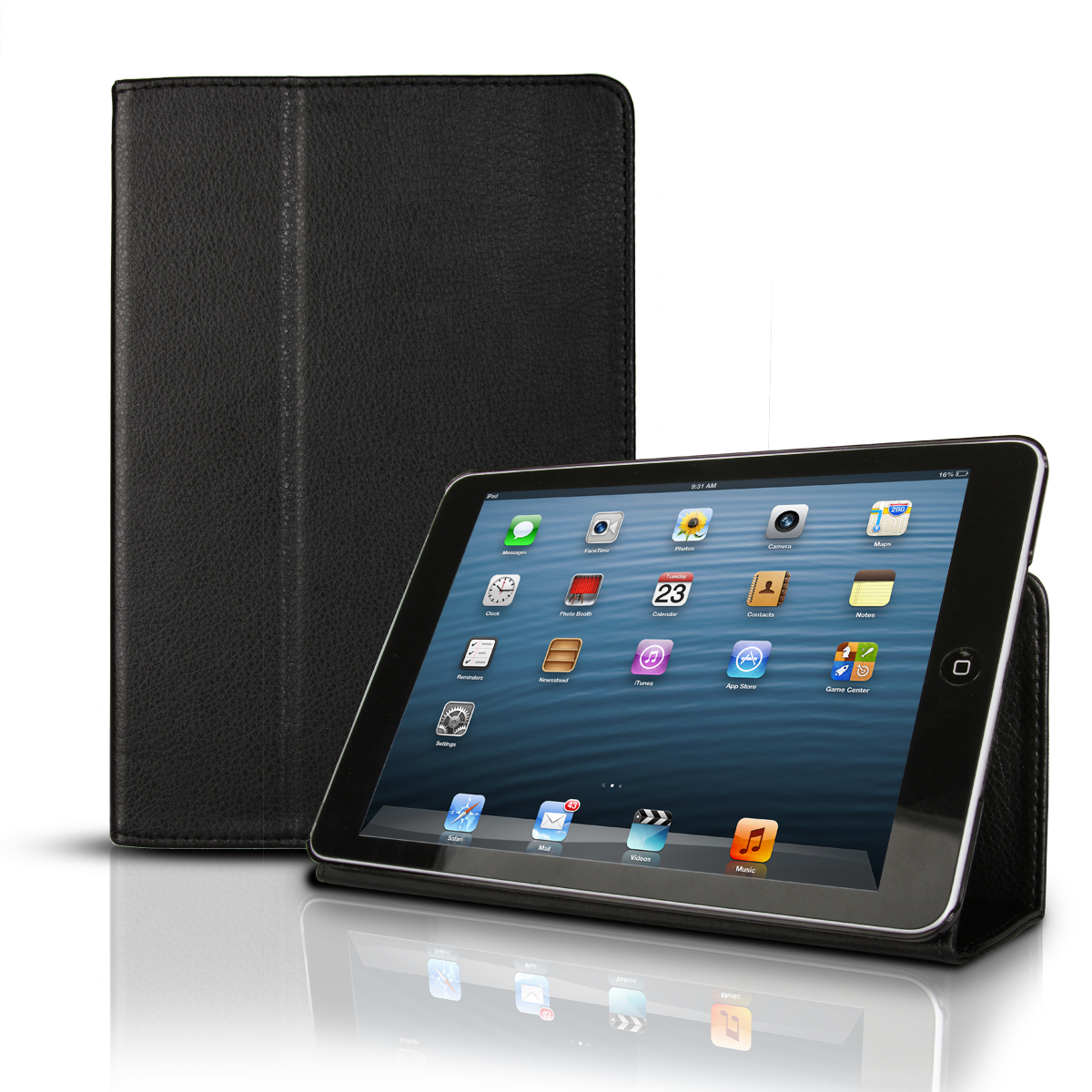 Photive Apple iPad Mini Smart Cover Folio Snap Case with Built in Stand and Fully Functional Sleep & Wake Function