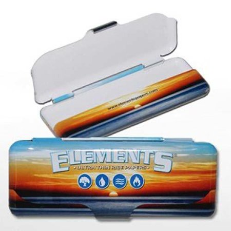 ELEMENTS ROLLING PAPER CONTAINER METAL TIN 1.25 PACK OF 1