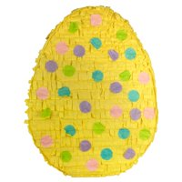 Polka Dot Easter Egg Pinata Yellow 11in x 17in