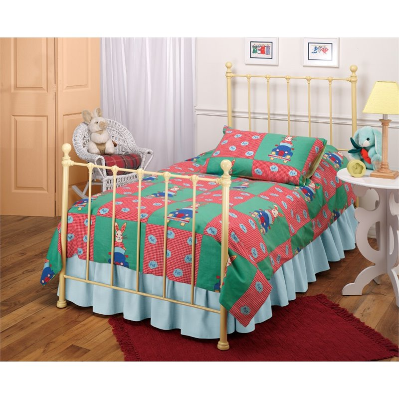 Hillsdale Molly Twin Poster Bed in Yellow