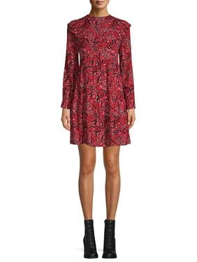 Time and Tru Tiered Ruffle Dress Women's