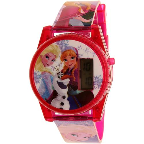 Disney Girl's Frozen FNFKD071 Pink Plastic Quartz Watch