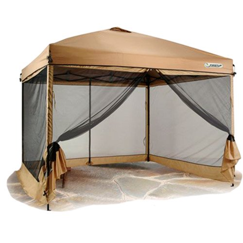 Screened In Canopy : First up canopy screen curtain tan walmart
