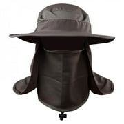 Outdoor Sport Fishing Hiking Hat UV Protection Face Neck Flap Sun Cap Outdoor Sportswear Accessories Green