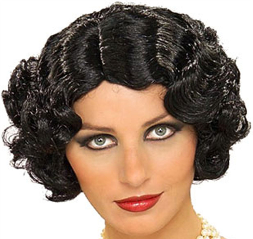Flapper Wavy Wig Adult Halloween Accessory