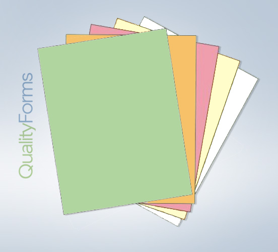 "8-1/2 x 11"" Laser-Carbonless 5 Part Paper - Ream - Reverse"