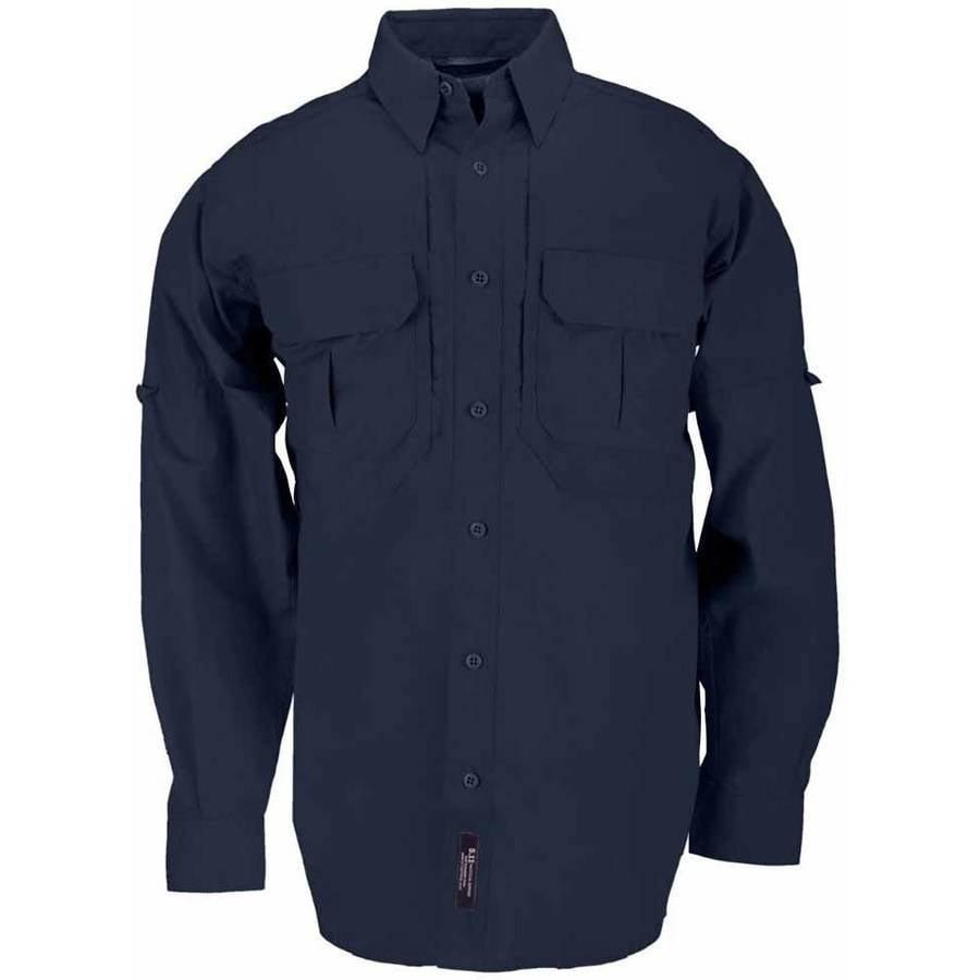 Cotton Tactical Long Sleeve Shirt, Fire Navy