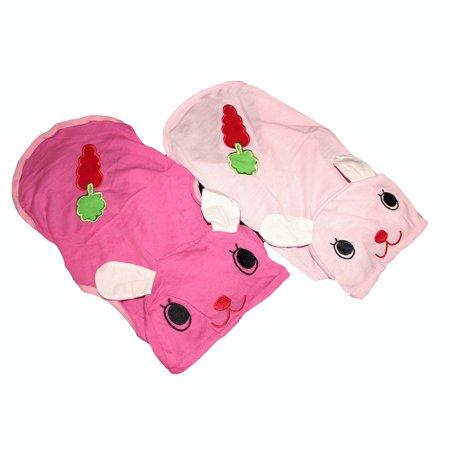 For SMALL Pet Cat Puppy Dog Shirt BUNNY Dress Pajamas Hood Sleeveless Light Pink sz XS (length - 7