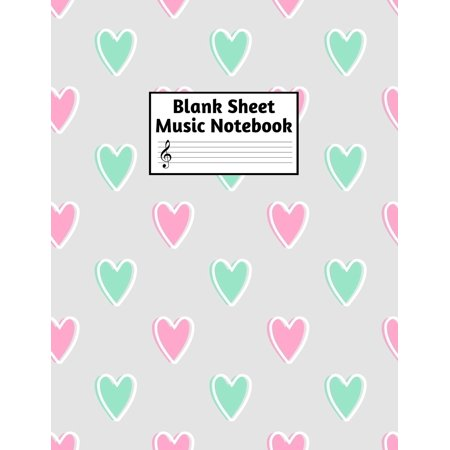Blank Sheet Music Notebook : Easy Blank Staff Manuscript Book Large 8.5 X 11 Inches Musician Paper Wide 12 Staves Per Page for Piano, Flute, Violin, Guitar, Trumpet, Drums, Cello, Ukelele and other Musical Instruments - Code: A4 8381 Trumpet Piano Music