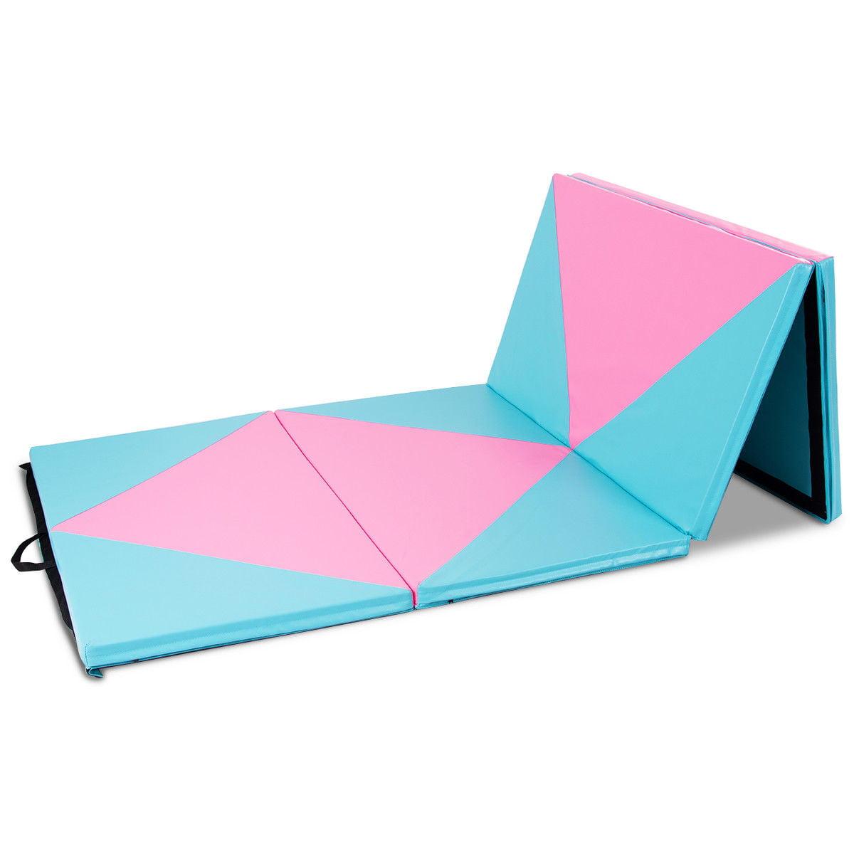 Goplus 4 X10 X2 Thick Folding Panel Gymnastics Mat Gym