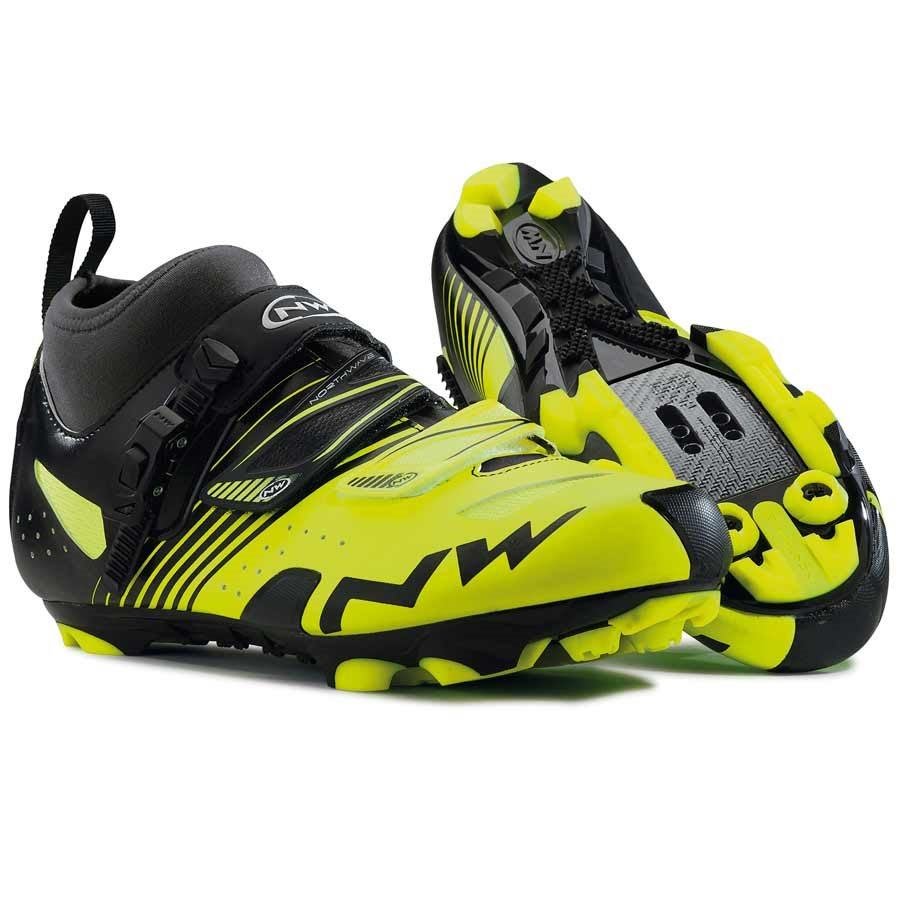 Northwave, CX Tech, MTB shoes, Men's, Yellow Fluo/Black, 42