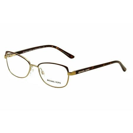 Michael Kors Eyeglasses Grace Bay MK7005 MK/7005 1049 Chocolate/Gold Frame (Michael Kors Chocolate)