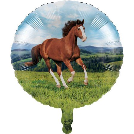Creative Converting Horse And Pony Metallic Balloon 18