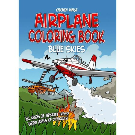 Chicken Wings Blue Skies Coloring Book